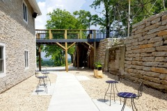 Vennebu Hill - in Wisconsin Dells - new wedding and event venue - courtyard and view of the Baraboo bluffs