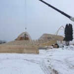 Winter Construction of Vennebu Hill Wedding & Event Venue