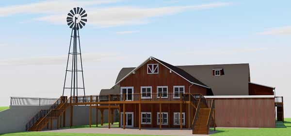 Renderings of Vennebu Hill wedding and event barn in Wisconsin Dells