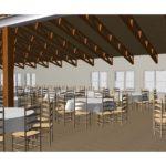 Rendering of Vennebu HIll Dining Area - a Wisconsin Wedding Venue - Vennebu Hill events barn in Wisconsin Dells
