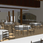 Rendering of Vennebu HIll Dining Area - a Wisconsin Wedding Venue - Vennebu Hill events barn in Wisconsin Dells
