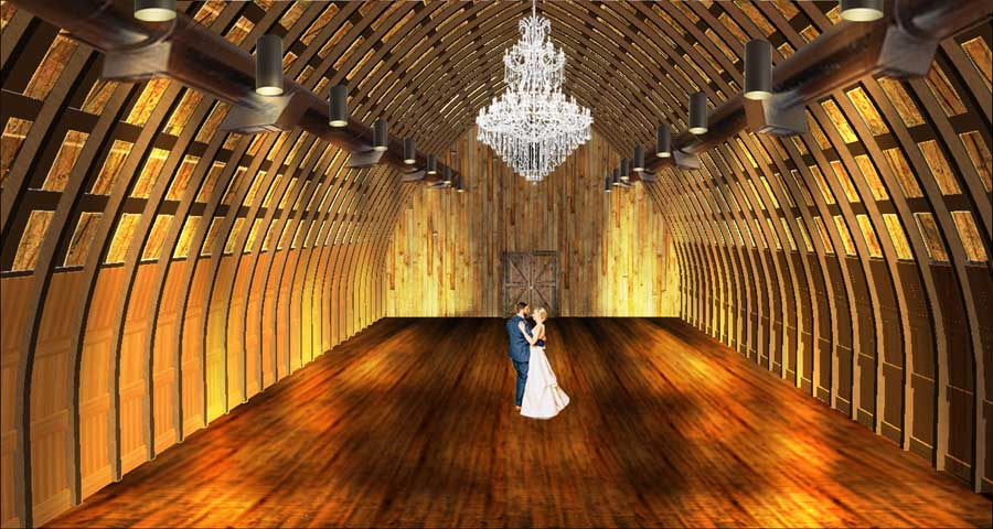 Vennebu Hill weddings and event barn in Wisconsin Dells - restoration plans for interior of Gothic barn