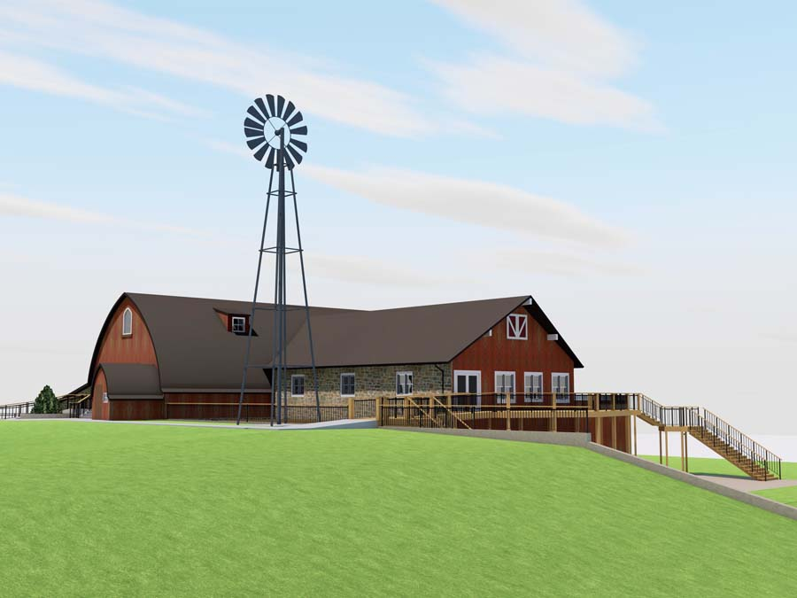 Vennebu Hill weddings and event barn in Wisconsin Dells - restoration plans