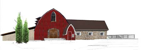 Vennebu Hill weddings and event barn in Wisconsin Dells - restoration plans for the South front
