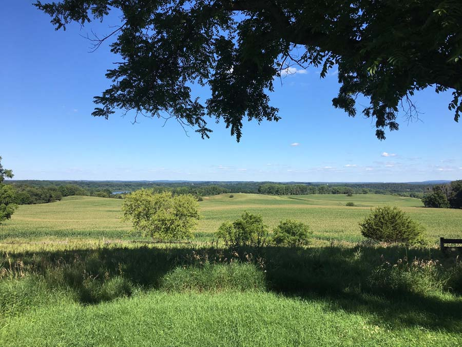 Views of the Baraboo bluffs, Wisconsin River, and Wisconsin farmland beauty