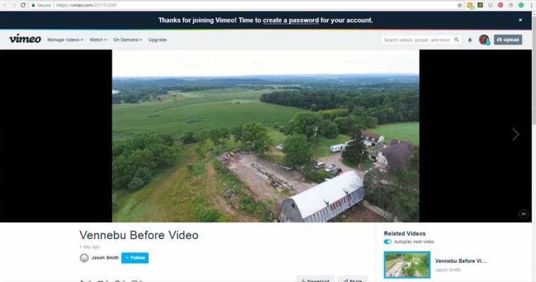 "Drone footage of ""Before"" Vennebu Hill wedding barn venue restoration begins!"