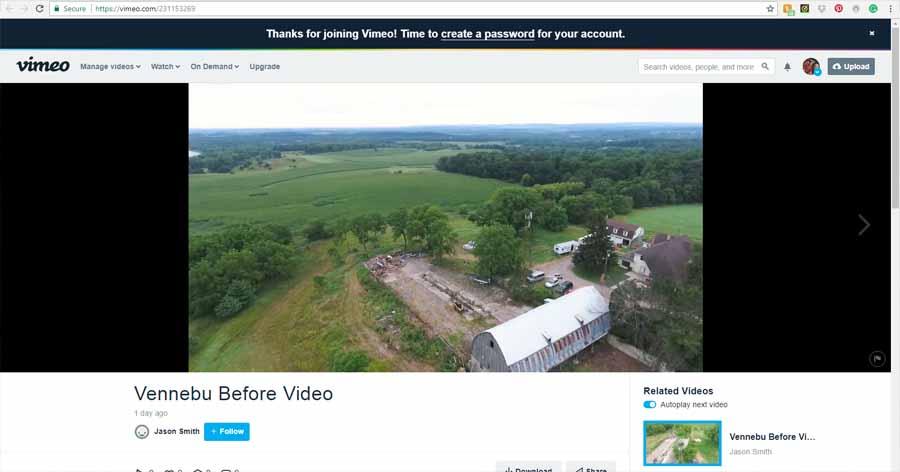 "Drone footage of ""Before"" Vennebu Hill wedding barn venue restoration begins!"