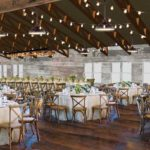 Wisconsin Wedding Venue - Vennebu Hill events barn in Wisconsin Dells - dining and crossback chairs