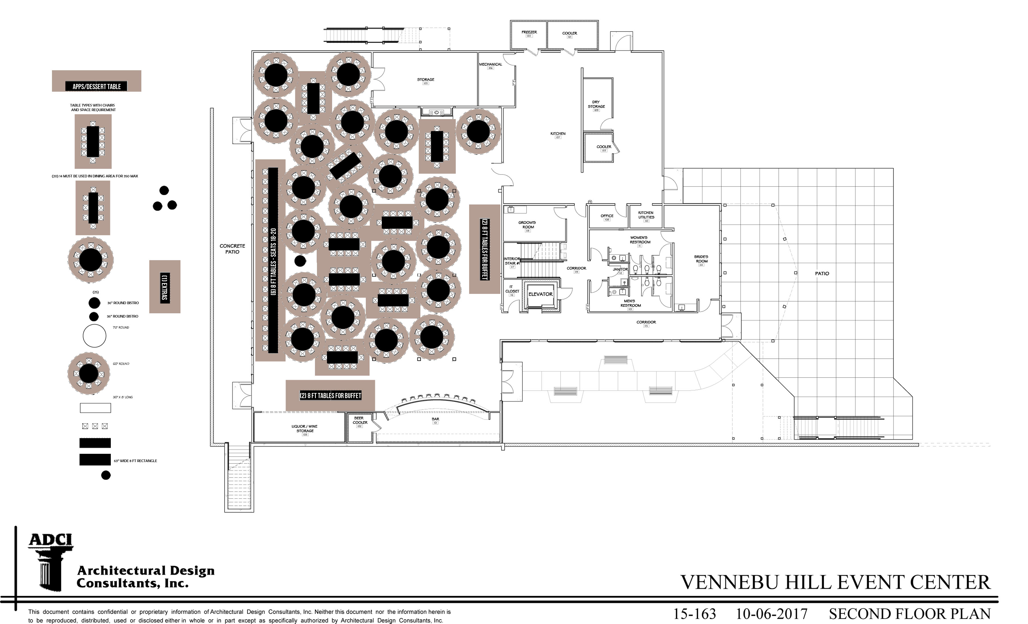 FLOOR PLAN WITH TABLES - 300 MAX with two buffet lines with 36 inch ...