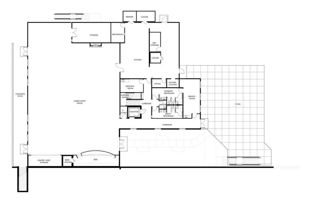 Vennebu Hill Wedding Barn And Event Venue In Wisconsin Dells Lower Level Floor Plan
