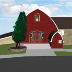 Vennebu Hill weddings and event barn in Wisconsin Dells - restoration plans for the South main front doors
