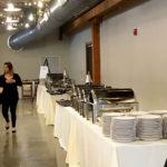 Vennebu Hill - in Wisconsin Dells - new wedding and event venue - buffet line preparation